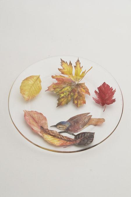 Verre ガラスの皿