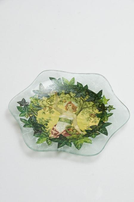 Verre ガラスの皿(六角)